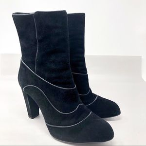 Tod's | Suede Lulu Black Ankle Boots